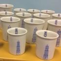 Scheldbekers   Koffie formaat Toren Collectie BAM Keramiek