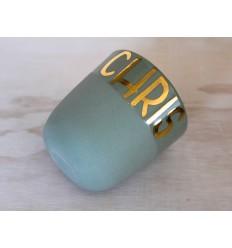 koffiebeker De Klub, custom GOUDEN LETTERS