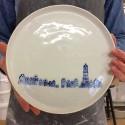 Handgeilustreerd bord met stadsgezicht - 26 cm